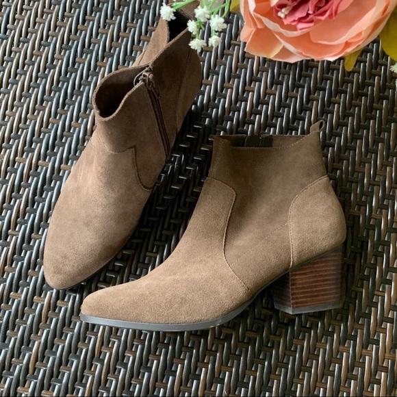 Crown Vintage Shoes - CROWN VINTAGE | Suede Style Ankle Bootie
